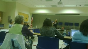 Carrol Wolverton presents the do's and don'ts of self publishing. Photo courtesy Diane Loftis